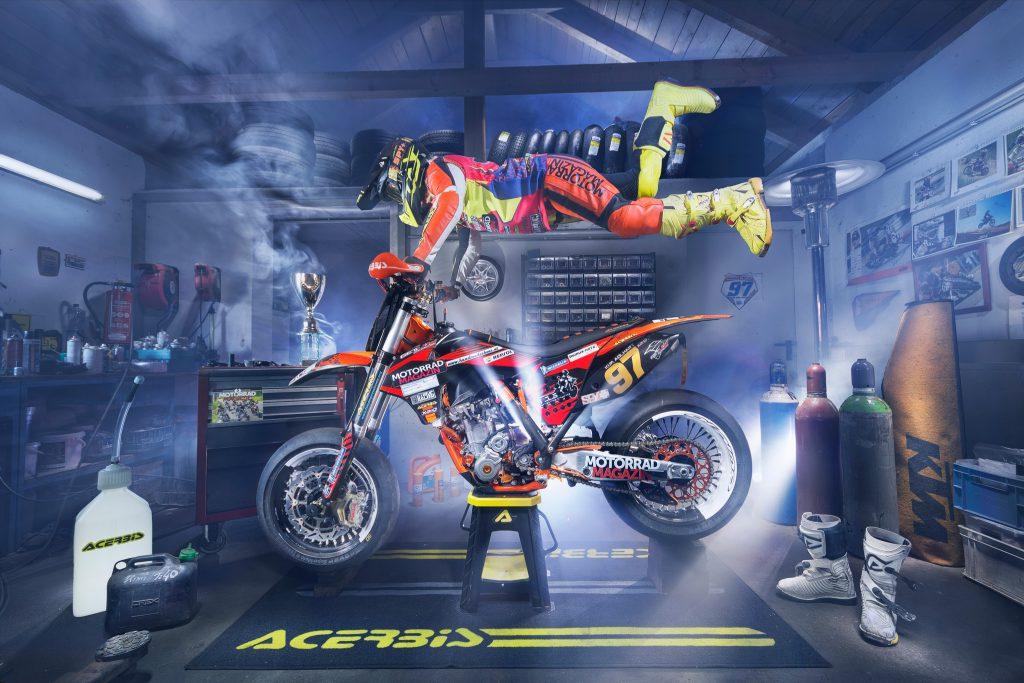 Kim Adlhart #97 mit KTM 350 Supermoto Lightrider Fotografie
