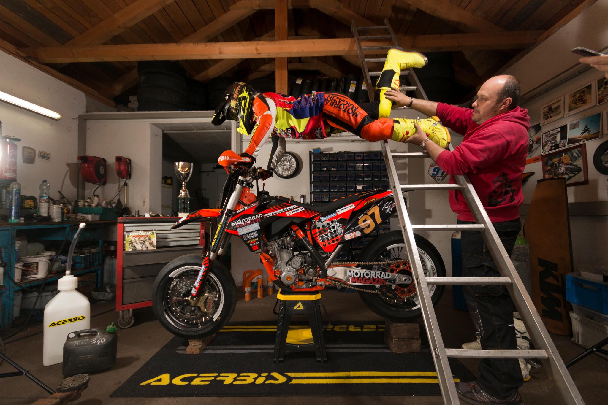 Making of Kim Adlhart und KTM Lightrider