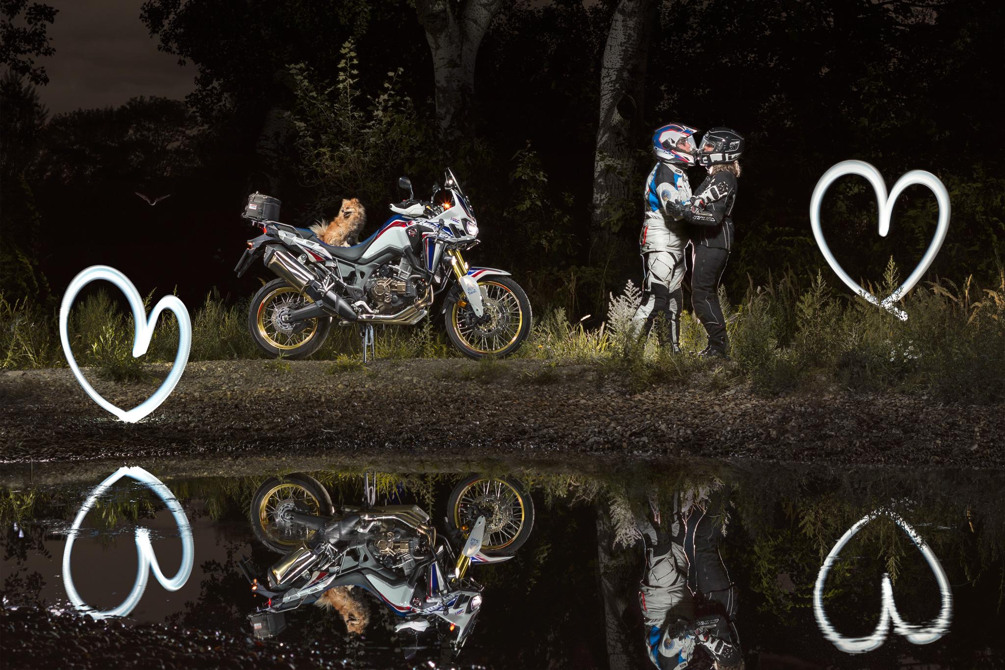 Motorrad Fotograf Lightrider Honda Africa Twin Lightpainting Christian NOVY Novak