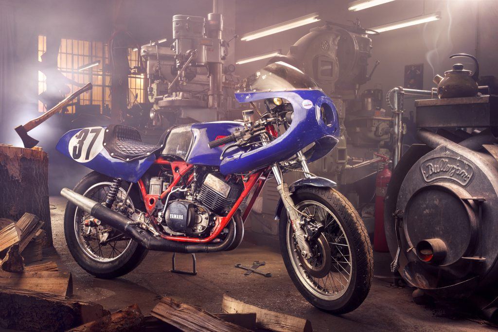 Motorrad Hacke Ofen